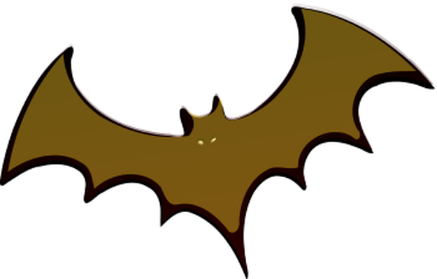 Bat clipart grey Flying bat flying grey bat