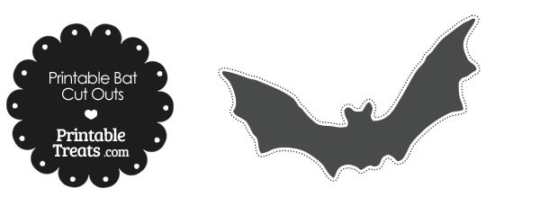 Bat clipart grey Treats Printable Grey Outs Cut