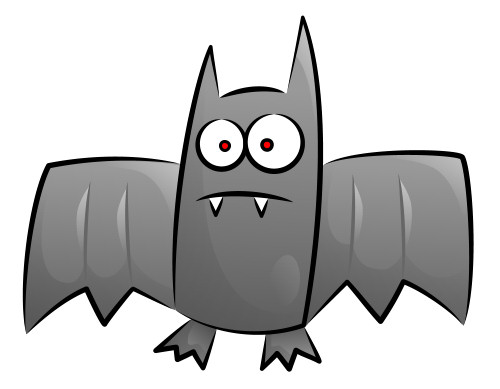 Bat clipart grey Cartoon Nice cartoon shadows in