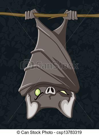 Bat clipart comic Art Bat  Hanging This