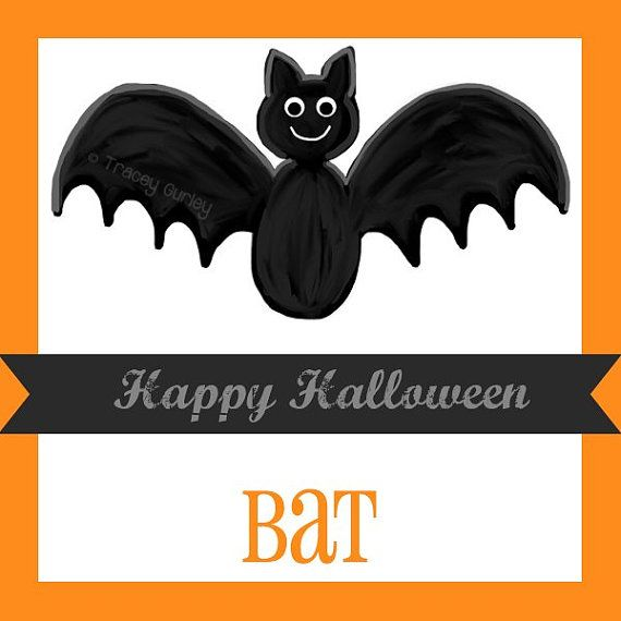 Bat clipart printable Halloween art halloween Fledermaus Ideen