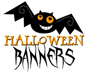 Bat clipart printable halloween decoration Center: Halloween Party Cute Banners