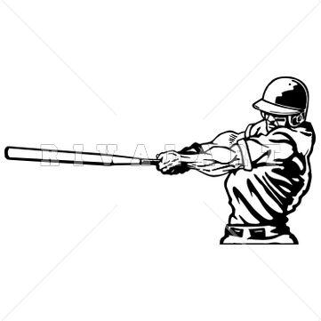 Bat clipart row Swinging Baseball best Bat Image
