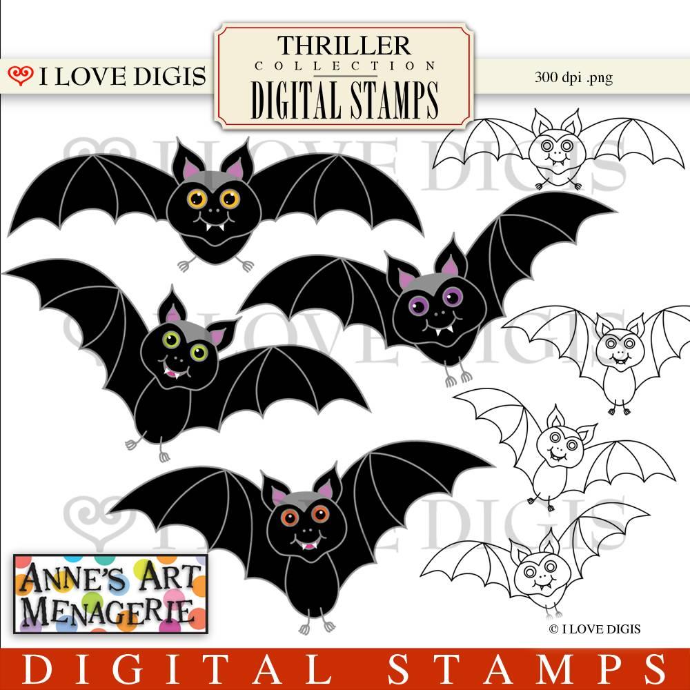 Bat clipart thriller I Digital : Thriller 49