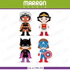 Superhero Heroins Batgirl and Superhero