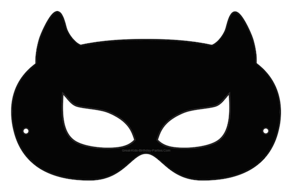 Batgirl clipart mask Printable Mask batman Template