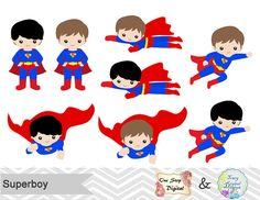 Batgirl clipart pop art  Superhero Clipart Digital Superman
