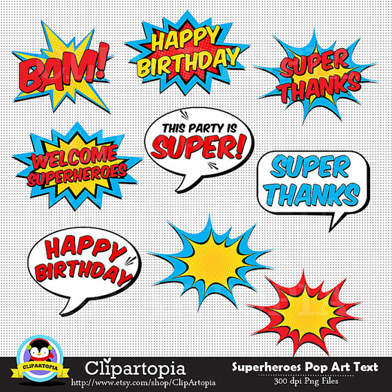 Batgirl clipart pop art Text 50% SALE Bubbles