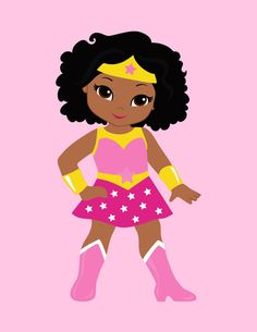 Batgirl clipart printable pink Decor Woman African Nursery African
