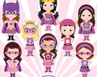 Batgirl clipart superhero Girls clipart Superhero Pink Supergirls