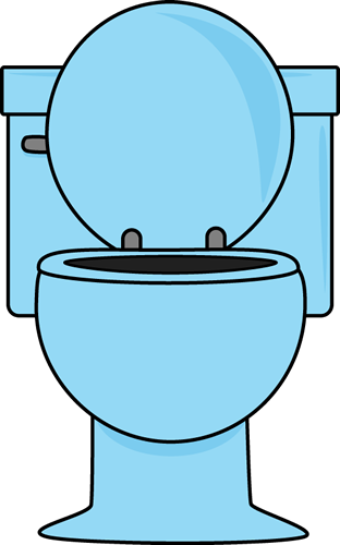 Toilet clipart Up with Lid Clip Toilet