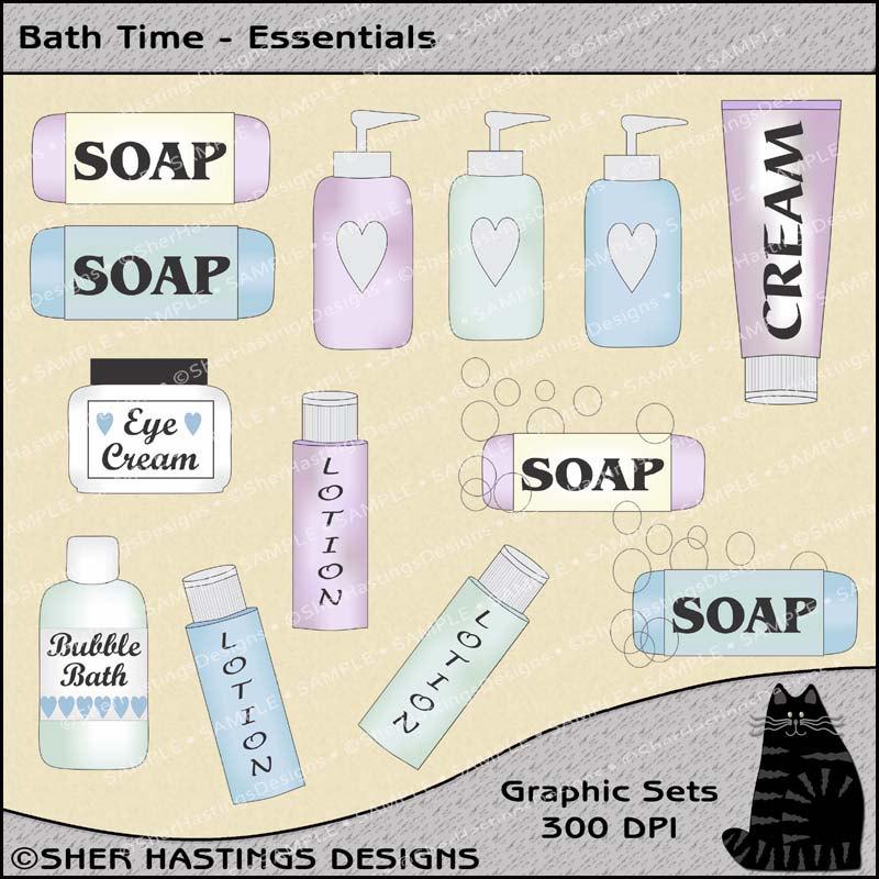 Bathroom clipart bath time Time Clipart is a Set