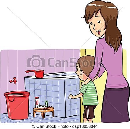 Bathroom clipart bath time To Vector her A Bath