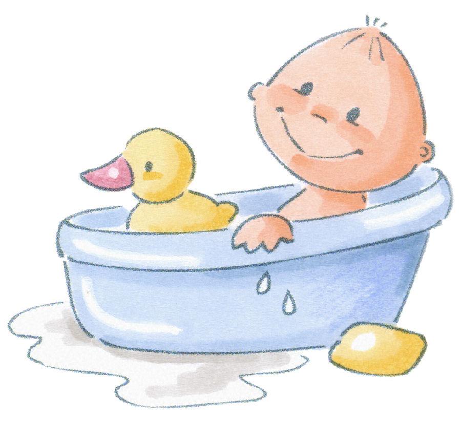 Baby clipart bathtime  Baby BEBÉS Art in