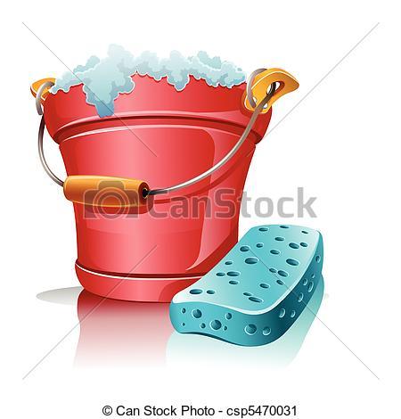 Bathroom clipart pail Foam bucket bucket Vector with
