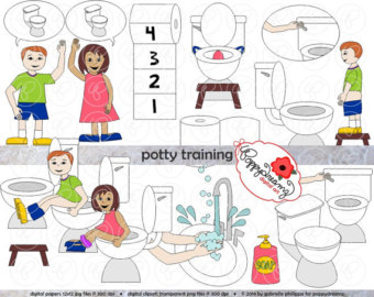 Bathroom clipart potty training Set (300 Art Toilet Teacher