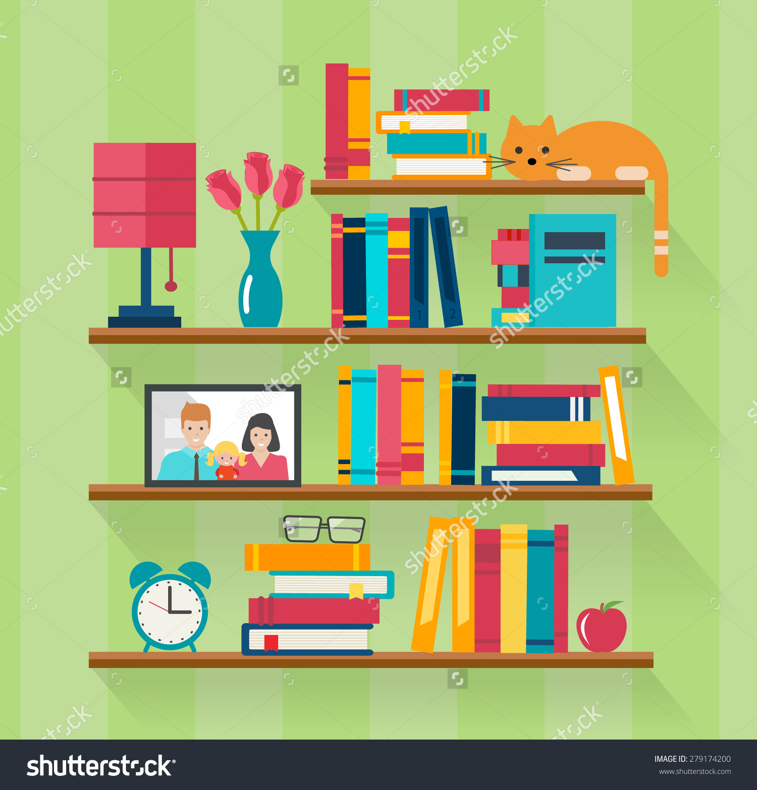 Bookcase clipart full With Bedroom Bookshelves You Smile