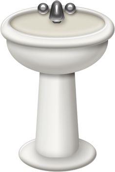 Bathroom clipart washbasin On decoupage Clip Art Clip