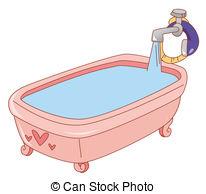 Bathtub clipart Clip Bathtub full of pink