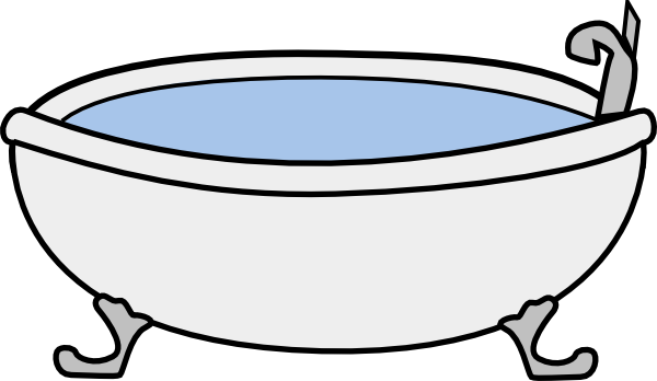 Bathtub clipart This Clker com Art Bathtub