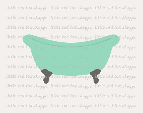 Bathtub clipart claw Claw Clipart Bath Retro Tub
