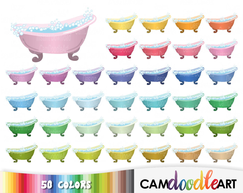 Bathtub clipart claw Clipart file Sticker 50 Bubble