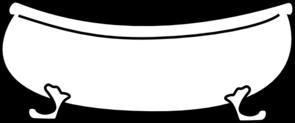 Bathtub clipart outline  Bathtub Art Clker clip