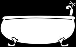Bathtub clipart outline Tub Free Clip Clip Art