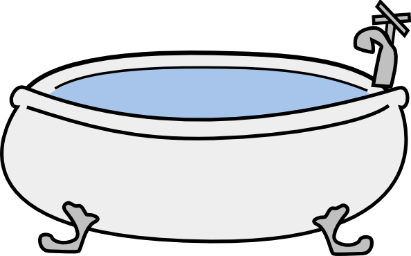 Bathtub clipart outline Royalty Download  Clip at