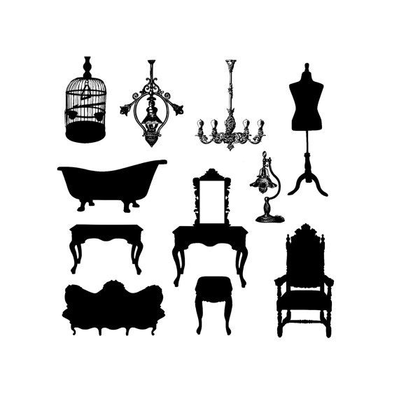 Bathtub clipart silhouette Download Clip Silhouette Art fashioned
