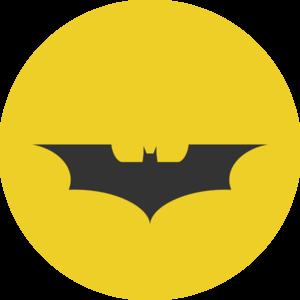 Batman clipart black and white