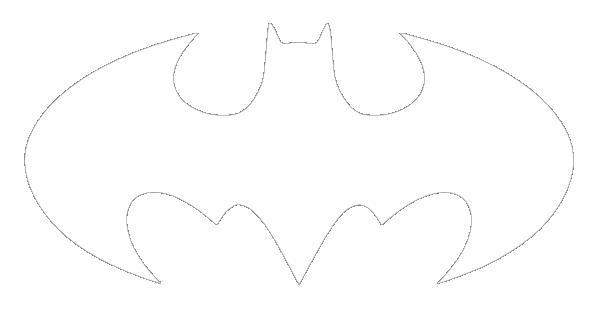 Clip Symbol Library Batman Black