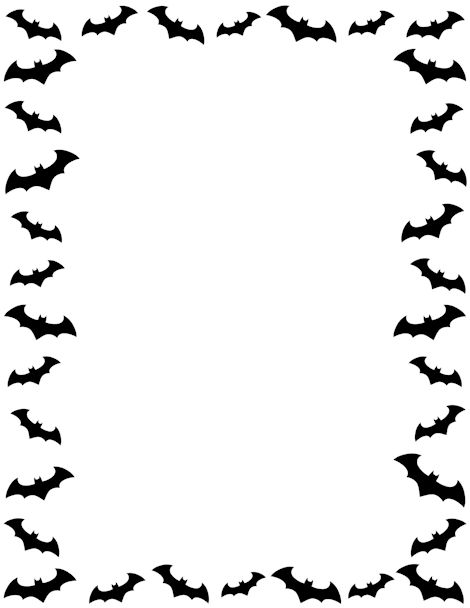Bat clipart frame Page Borders Pages http://pageborders and