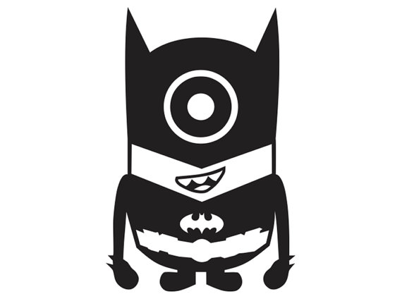 Batman clipart minion #4