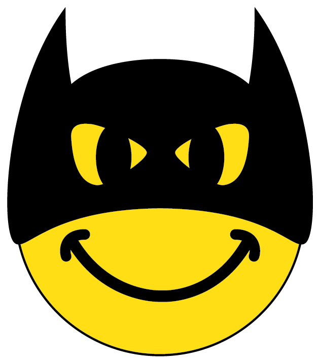 Batman clipart smiley face #14