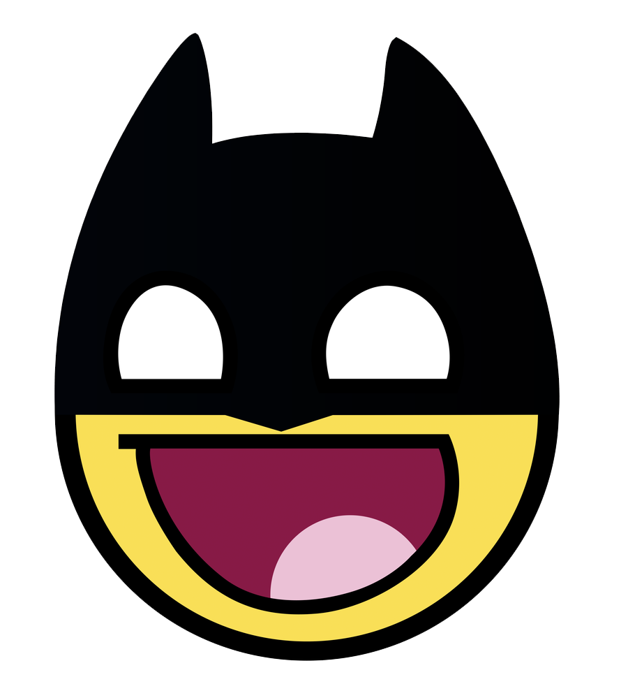 Batman clipart smiley face #12