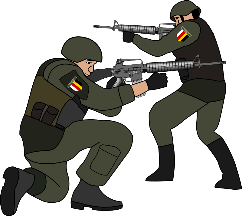 Shooter clipart handgun (PNG) Soldiers Clipart MEDIUM battle