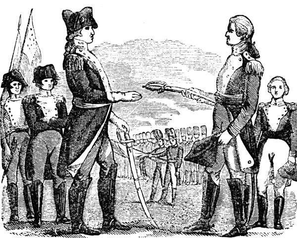 Battle clipart yorktown surrender #4