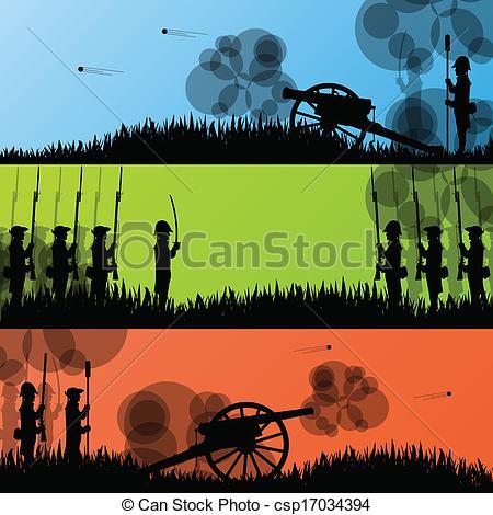Battlefield clipart Old war battle field Vintage
