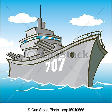 Battleship clipart Guns  Vector with Battleship