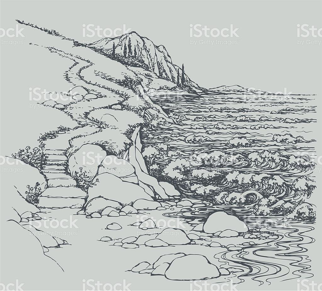 Shoreline clipart Download Rocky Art Bay Art
