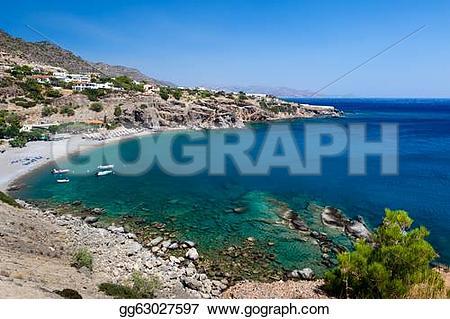 Bay clipart body water Beach island a crete of