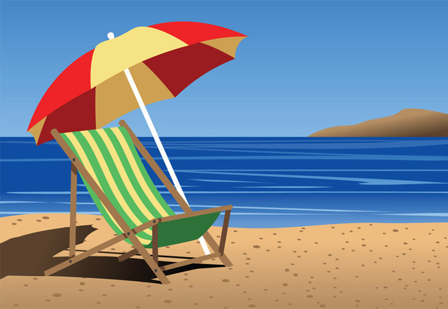 Vacation clipart beach chair Free clipartcow 57 Cliparting Beach