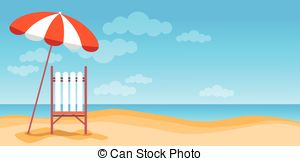 Beach clipart banner  Clip Vacation Sand With