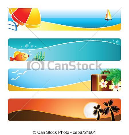 Beach clipart banner Time of backgrounds banner Beach