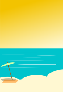 Beach clipart beach background Com Beach clip Clker online