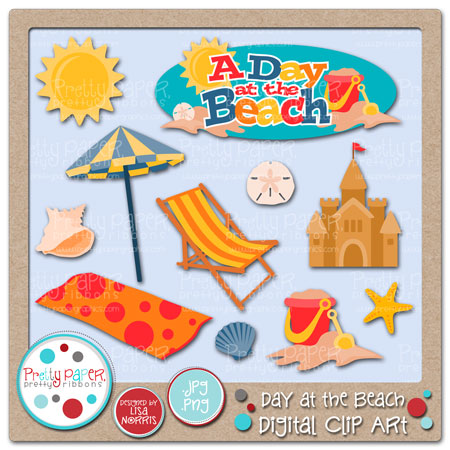 Beach clipart beach day Paper Beach Clip Day Pretty