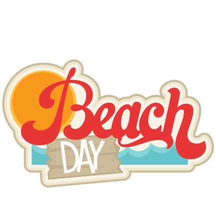 Beach clipart beach day File SVG title Scrapbooking beach
