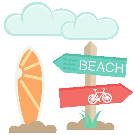 Beach clipart cute beach Beach Icons cut  silhouette