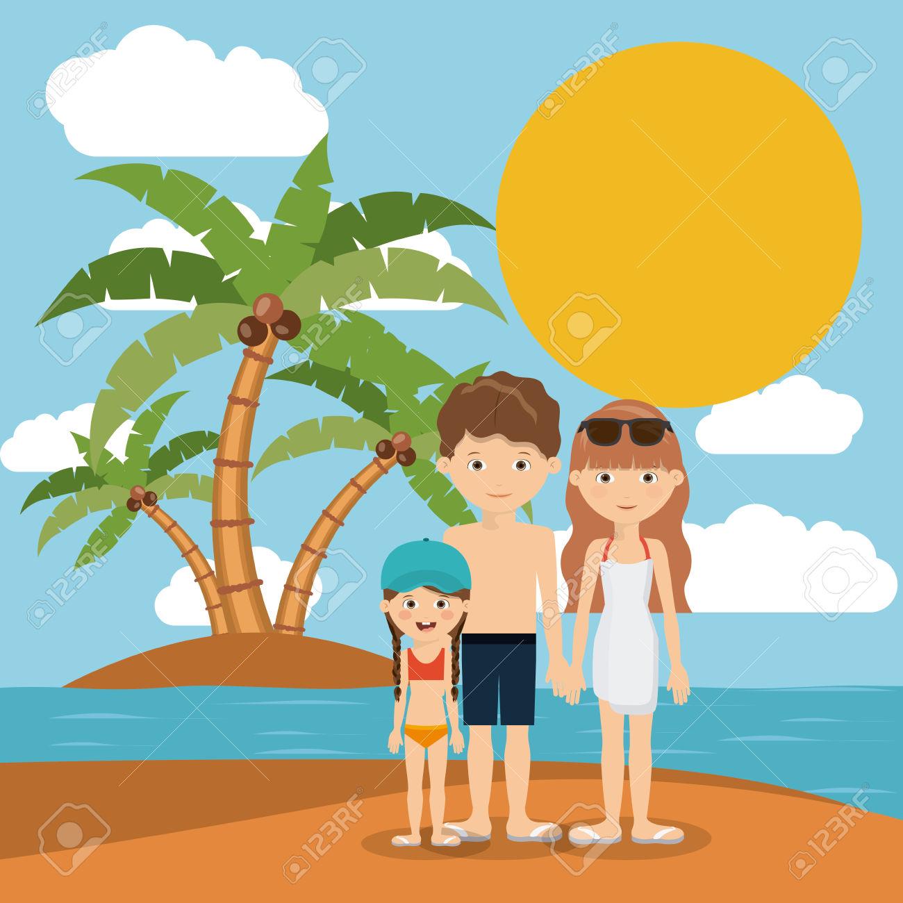 Beach clipart family beach vacation Clipart Design Vacation Beach collection